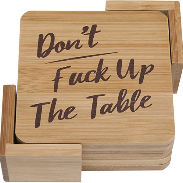 Don't F**k Up The Drink Coasters