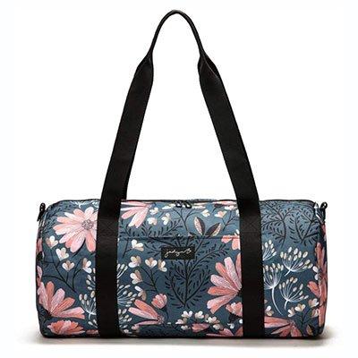flower-print-workout-bag