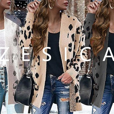 7. Leopard Print Knitted Cardigan