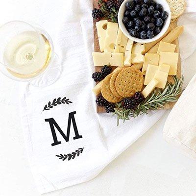 monogram-kitchen-towel
